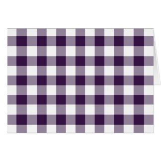 Purple and White Gingham Pattern Greeting Card