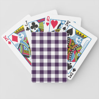 Purple and White Gingham Pattern Deck Of Cards
