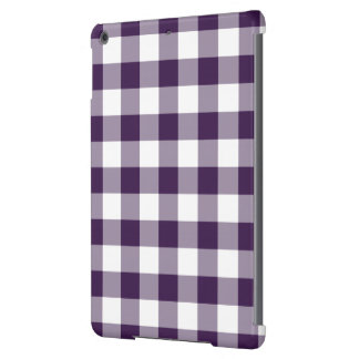 Purple and White Gingham Pattern iPad Air Cases