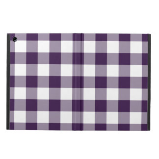 Purple and White Gingham Pattern iPad Air Cover