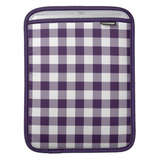 Purple and White Gingham Pattern iPad Sleeve