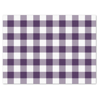 """Purple and White Gingham Pattern Tissue Paper 17"""" X 23"""" Tissue Paper"""