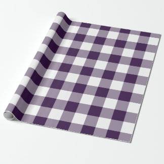 Purple and White Gingham Pattern Gift Wrap