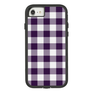 Purple and White Gingham Plaid Case-Mate Tough Extreme iPhone 7 Case