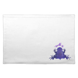 Purple and White Horned Frog Placemat