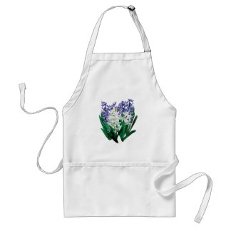 Purple and White Hyacinths Apron