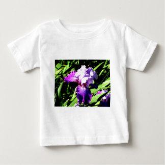 Purple and White Iris T Shirts
