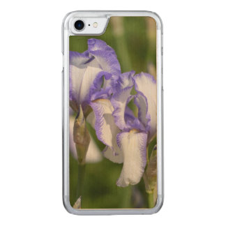 Purple and White Irises Carved iPhone 8/7 Case