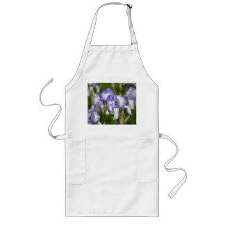 Purple and White Irises Long Apron