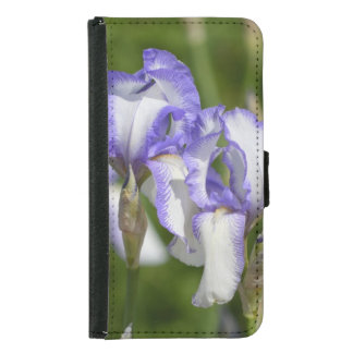 Purple and White Irises Samsung Galaxy S5 Wallet Case