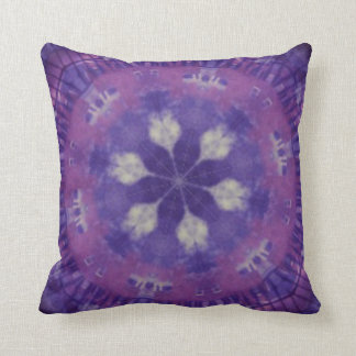 Purple and white kaleidoscope design pillow