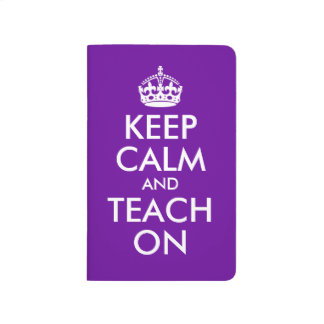 Purple and White Keep Calm and Teach On Journals