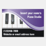 Purple and White Keyboard Teacher Yard Sign