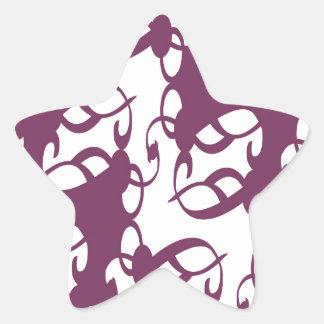Purple and White Lace Star Sticker