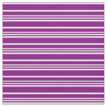 [ Thumbnail: Purple and White Lined Pattern Fabric ]