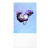 Purple and White Lisianthus Card