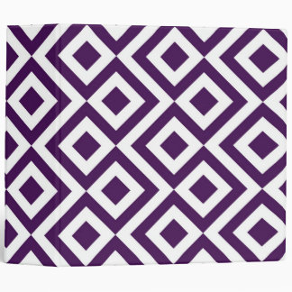 Purple and White Meander Vinyl Binders