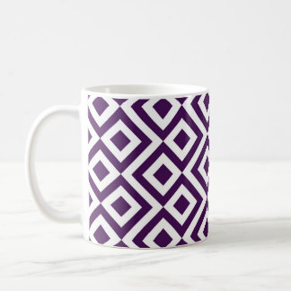 Purple and White Meander Coffee Mug