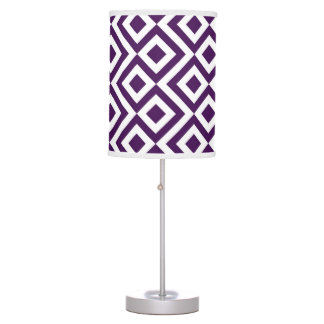 Purple and White Meander Desk Lamp