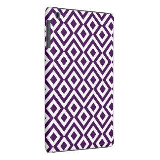 Purple and White Meander iPad Mini Cases