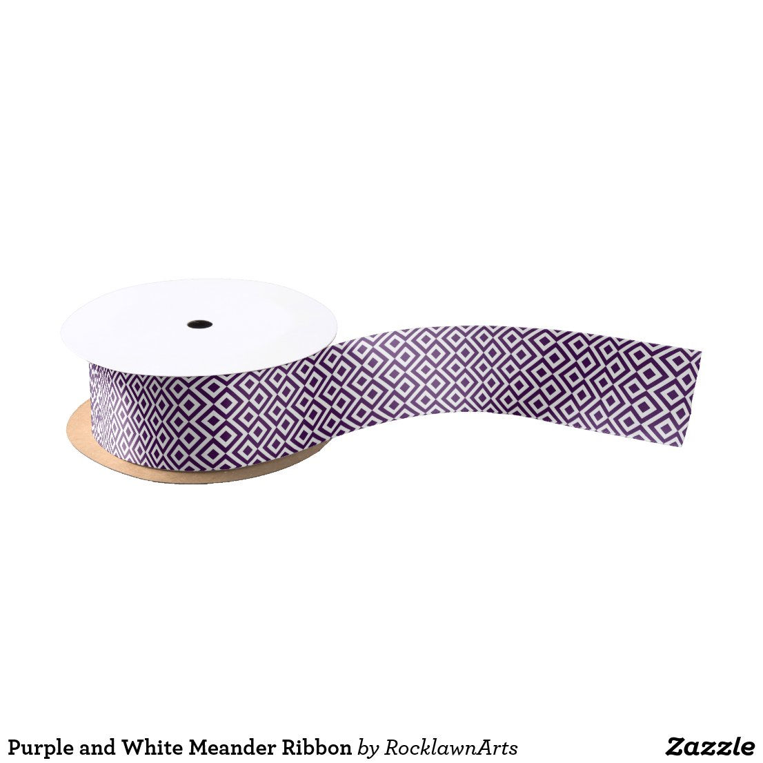 Purple and White Meander Ribbon