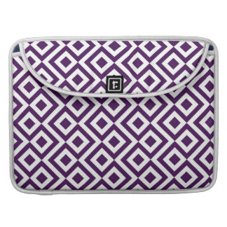 Purple and White Meander Sleeve For MacBook Pro