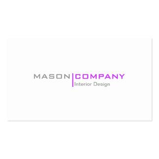 Purple and White Minimalistic Business Card