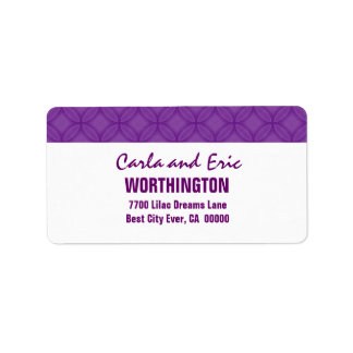 Purple and White Modern Simple A301 Address Label