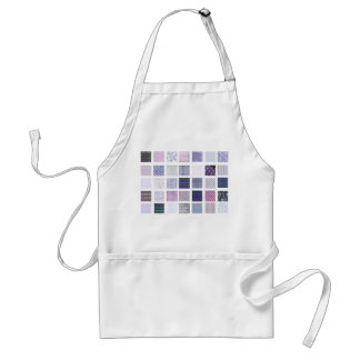 Purple and white mosaic adult apron