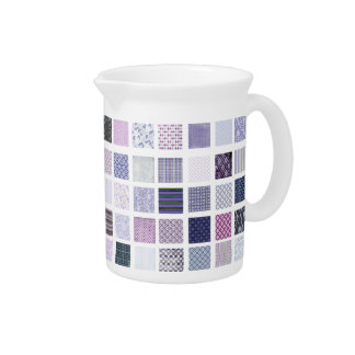 Purple and white mosaic pitcher