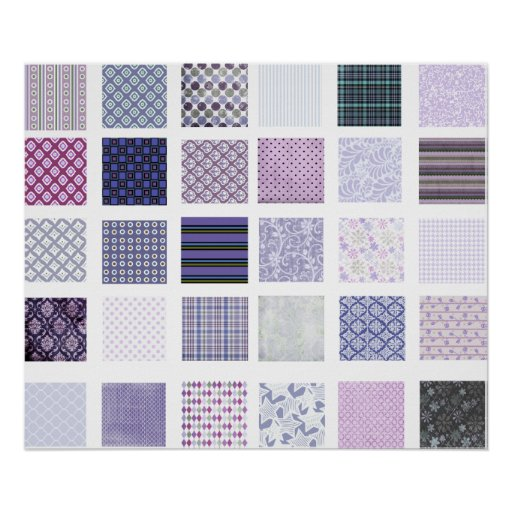 Purple and white mosaic poster