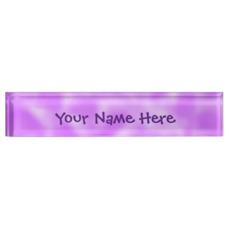 Purple and White Mottled Desk Name Plate