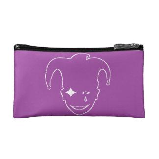 Purple And White MTJ Makeup Bag