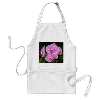Purple and White Orchid Adult Apron