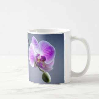 Purple and White Orchid Image on Coffee Mug