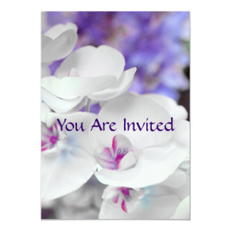 Purple and White Orchids Bridal Shower Invitation
