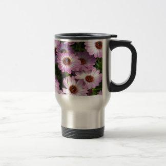 Purple and white osteospermum flowers mug