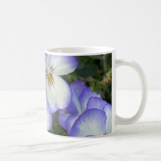 Purple and White Pansies Coffee Mug