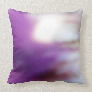 Purple and White Paterned Pillow