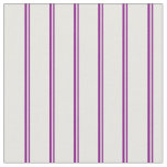 [ Thumbnail: Purple and White Pattern of Stripes Fabric ]