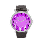 Purple and White Patterned Watch