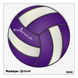 Purple and White Personalize Volleyball Wall Decal