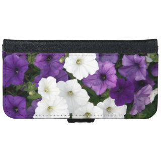 Purple and white petunias iPhone 6/6s wallet case