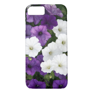 Purple and white petunias iPhone 7 case