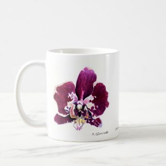 Purple and White Phalaenopsis Orchid Mug