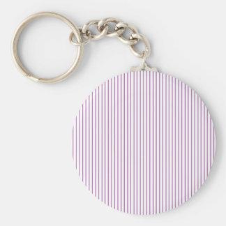 Purple and White Pinstripe Keychain