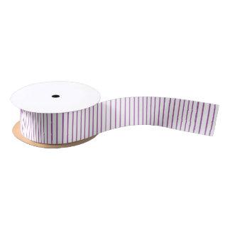 Purple and White Pinstripe Ribbon Satin Ribbon