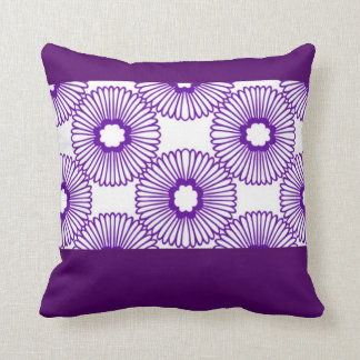 Purple and White Pinwheel Flower Pillow