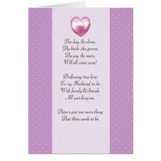 purple and white polka dot Be my bridemaid card