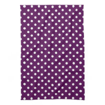 Purple and White Polka Dot Hand Towel